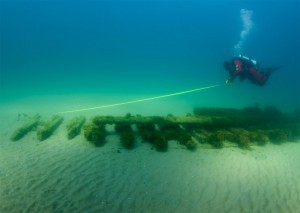 Ross Richardson documents a shipwreck in Lake Michigan
