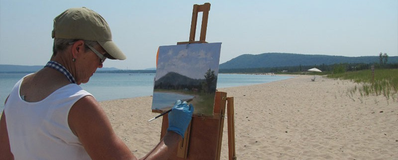 Plein-Aire-Paintout-Sleeping-Bear-Bay